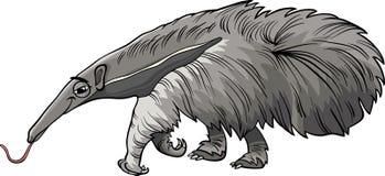 Ζωική απεικόνιση κινούμενων σχεδίων Anteater ελεύθερη απεικόνιση δικαιώματος