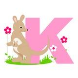 ζωική Κ επιστολή αλφάβητου Στοκ εικόνες με δικαίωμα ελεύθερης χρήσης