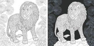 ζωική χρωματίζοντας σελίδα διανυσματική απεικόνιση