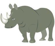 ζωικός ρινόκερος απεικόν& ελεύθερη απεικόνιση δικαιώματος