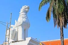 Ζωικό άγαλμα σε Wat Phra Σινγκ, Chiang Mai, Ταϊλάνδη στοκ φωτογραφία με δικαίωμα ελεύθερης χρήσης