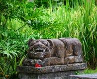 Ζωικό άγαλμα στο χωριό στο Μπαλί, Ινδονησία Στοκ εικόνες με δικαίωμα ελεύθερης χρήσης