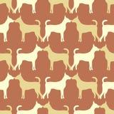 Ζωικό άνευ ραφής σχέδιο των σκιαγραφιών σκυλιών Στοκ Εικόνες