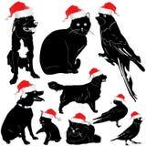 ζωικό κατοικίδιο ζώο Χριστουγέννων διανυσματική απεικόνιση