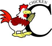 Ζωικό κοτόπουλο αλφάβητου Στοκ Εικόνες