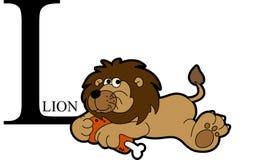 Ζωικό λιοντάρι αλφάβητου Στοκ φωτογραφία με δικαίωμα ελεύθερης χρήσης