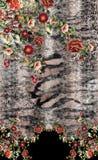 Ζωικό σχέδιο τυπωμένων υλών κεντητικής λουλουδιών στοκ εικόνα με δικαίωμα ελεύθερης χρήσης
