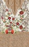 Ζωικό σχέδιο τυπωμένων υλών κεντητικής λουλουδιών στοκ φωτογραφίες