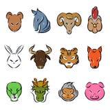 Ζωικό zodiac εικονίδιο διανυσματική απεικόνιση