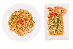 Ζωμός και τηγανισμένος προσροφητικός άνθρακας Kway Teow Ι Στοκ εικόνες με δικαίωμα ελεύθερης χρήσης