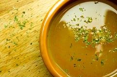 Ζωμός, σούπα, σαφής σούπα στοκ φωτογραφίες με δικαίωμα ελεύθερης χρήσης