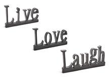 ζωντανή αγάπη γέλιου Στοκ εικόνες με δικαίωμα ελεύθερης χρήσης