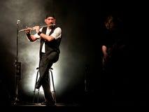 Ζωντανή συναυλία Tull Jethro Στοκ Εικόνες