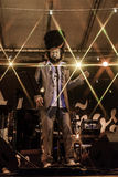 Ζωντανή συναυλία capossela Vinicio στην Ιταλία, Calitri στοκ εικόνα με δικαίωμα ελεύθερης χρήσης