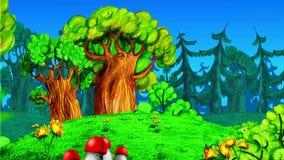 Ζωντανεψοντα δάσος διανυσματική απεικόνιση
