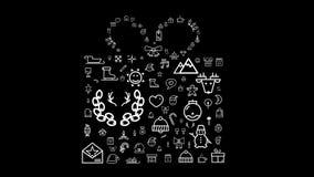 Ζωντανεψοντα εικονίδιο κιβωτίων δώρων φιλμ μικρού μήκους