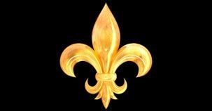 Ζωντανεψοντα η Fleur-de-Lis στοιχείο φιλμ μικρού μήκους