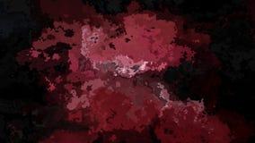 ζωντανεψοντα λεκιασμένο βίντεο βρόχων υποβάθρου άνευ ραφής - επίδραση watercolor splotch - μαύρη, σκούρο κόκκινο, πορφυρός, μαόνι απεικόνιση αποθεμάτων