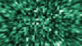Ζωντανεψοντα πράσινα κρύσταλλα υποβάθρου απόθεμα βίντεο