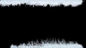 Ζωντανεψοντα στοιχεία πάγου στο παγωμένο γυαλί με τη διαφάνεια διανυσματική απεικόνιση