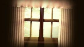 Ζωντανεψοντα υπόβαθρο με το ανοικτό παράθυρο διανυσματική απεικόνιση