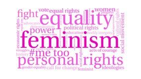 Ζωντανεψοντα φεμινισμός σύννεφο του Word απεικόνιση αποθεμάτων