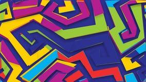 Ζωντανεψοντες αφηρημένες γεωμετρικές μορφές ελεύθερη απεικόνιση δικαιώματος