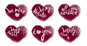 Ζωντανεψοντες καρδιές που τίθενται με την εγγραφή βαλεντίνων απόθεμα βίντεο