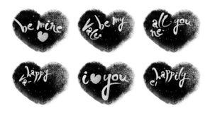 Ζωντανεψοντες χιονώδεις καρδιές που τίθενται με τους βαλεντίνους που γράφουν με τη μεταλλίνη Luma φιλμ μικρού μήκους