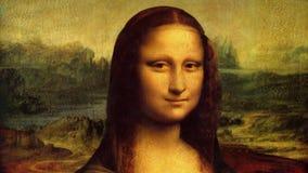 Ζωντανεψοντη η Lisa ζωγραφική της Mona απόθεμα βίντεο