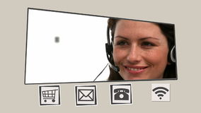 Ζωντανεψοντη διεπαφή για την επικοινωνία απόθεμα βίντεο