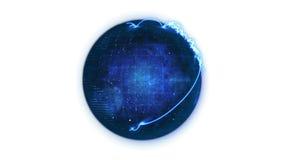 Ζωντανεψοντη μπλε σφαίρα πλανητών με το δίκτυο ελεύθερη απεικόνιση δικαιώματος