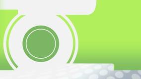 Ζωντανεψοντη πράσινη μετατροπή κύκλων σε έναν πίνακα δελτίων απεικόνιση αποθεμάτων