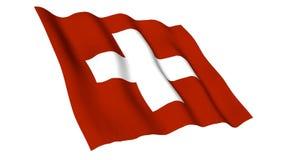Ζωντανεψοντη σημαία της Ελβετίας απεικόνιση αποθεμάτων