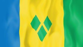 Ζωντανεψοντη σημαία του Άγιου Βικεντίου και Γρεναδίνες ελεύθερη απεικόνιση δικαιώματος