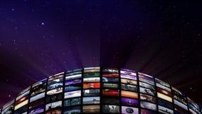 Ζωντανεψοντη τηλεοπτική σφαίρα στο διάστημα ελεύθερη απεικόνιση δικαιώματος
