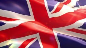 Ζωντανεψοντη τρισδιάστατη σημαία της Αγγλίας διανυσματική απεικόνιση