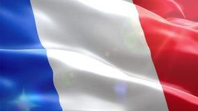 Ζωντανεψοντη τρισδιάστατη σημαία της Γαλλίας απεικόνιση αποθεμάτων