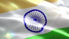 Ζωντανεψοντη τρισδιάστατη σημαία της Ινδίας απεικόνιση αποθεμάτων