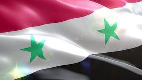 Ζωντανεψοντη τρισδιάστατη σημαία της Συρίας ελεύθερη απεικόνιση δικαιώματος
