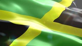 Ζωντανεψοντη τρισδιάστατη σημαία της Τζαμάικας διανυσματική απεικόνιση
