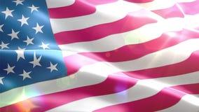 Ζωντανεψοντη τρισδιάστατη σημαία των ΗΠΑ απεικόνιση αποθεμάτων