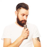 ζωντανός τραγουδιστής οργής μουσικής μικροφώνων ατόμων έννοιας Στοκ φωτογραφίες με δικαίωμα ελεύθερης χρήσης