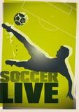 ζωντανό ποδόσφαιρο απεικόνισης Στοκ Φωτογραφία