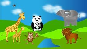 Ζωολογικός κήπος ελεύθερη απεικόνιση δικαιώματος
