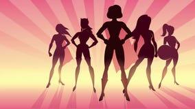 Ζωτικότητα δύναμης κοριτσιών ελεύθερη απεικόνιση δικαιώματος