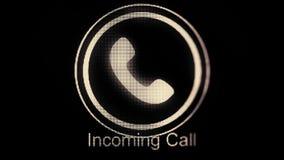 Ζωτικότητα εικονιδίων τηλεφωνικών δαχτυλιδιών κλήση εισερχόμενη Εικονίδιο κλήσης ζωτικότητας Χειροποίητη ζωτικότητα κακογραφίας ε διανυσματική απεικόνιση