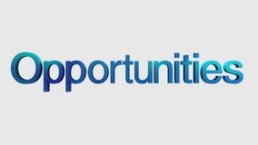 Ζωτικότητα «ευκαιρίες» κειμένων για την εισαγωγή θέματος, τρισδιάστατη απεικόνιση αποθεμάτων
