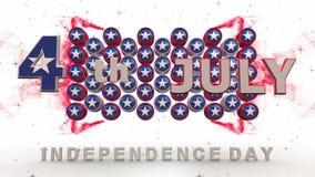 Ζωτικότητα ημέρας της ανεξαρτησίας με τα μαγικά αποτελέσματα απόθεμα βίντεο