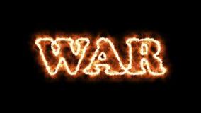 Ζωτικότητα καψίματος πολεμικών κειμένων στο μαύρο μήκος σε πόδηα 4k υποβάθρου διανυσματική απεικόνιση